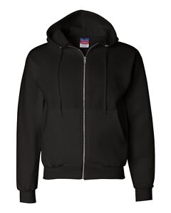 Champion Mens Size Full Zip-Up Hooded Hoodie Sweatshirt