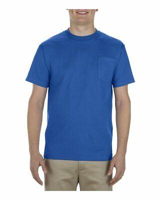 Alstyle Heavyweight Pocket T Shirt Mens Cotton Short Sleeve Tee Blank  New 1905