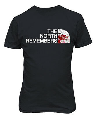 Game Of Thrones  The North Remembers  Direwolf Mens   Youth T Shirt