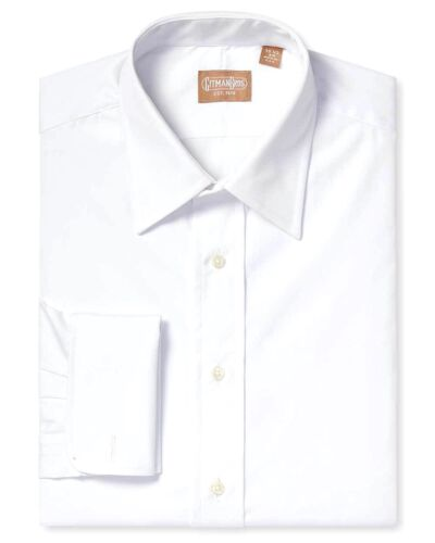 Gitman Medium Spread All Cotton Broadcloth French Cuff Tuxedo Shirt