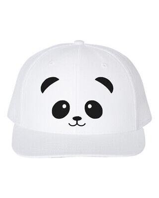 PANDA FACE, Panda BEAR Cap, ANIMAL LOVER, Snapback, - Panda Bear Hat