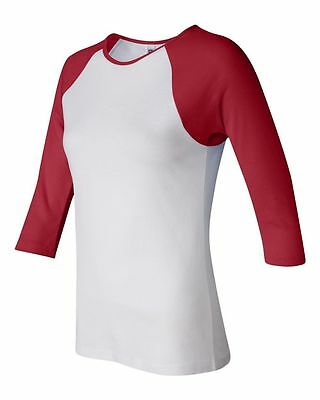 Bella Ladies NEW Size S-2XL Baseball Raglan 3/4 Sleeve T-Shirt TEE Womens 2000