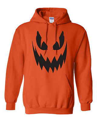 Pumpkin Scary Face Halloween Party Spooky Drinking College Funny Unisex HOODIE