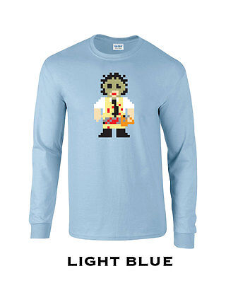 Long Halloween Villains (284 Bit chainsaw Long Sleeve college scary movie villain slash horror)