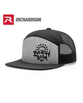 BEACH BUM SURFER LOVER RICHARDSON FLAT BILL SNAPBACK HAT * FREE SHIPPING in BOX*