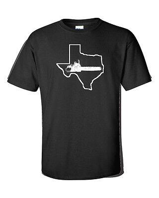 Texas Chainsaw Halloween Funny  WHITE PRINT Men's Tee Shirt 178 - Texas Halloween