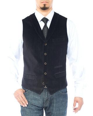 LN LUCIANO NATAZZI Mens Shawl Lapel Velvet Waistcoat Modern Fit Dress Suit - Velvet Suits