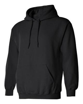 Men's Plain Hooded Sweatshirt Heavyweight Hoodie Pullover Fleece Hoody ()