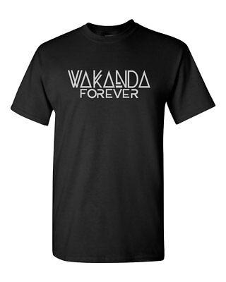 Wakanda Forever Black Panther Custom Mens Gildan T-Shirt Tee New