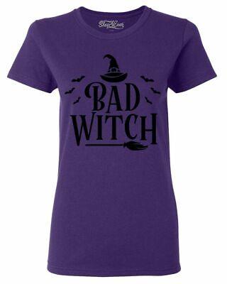 Best Halloween Custom (Bad Witch Blk Women's T-Shirt Funny Matching Best Friends Halloween)