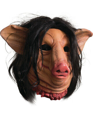 Adults Saw Sadistic Killer Pighead Pig Man Mask With Hair Costume Accessory](Pig Saw Mask)