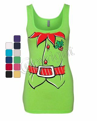 Elf Shirt Women's Tank Top Funny Christmas Xmas New Year Holiday - Women Elves
