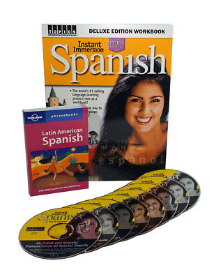 Learn to Speak SPANISH Language Deluxe (8 Audio CDs) w/ Workbook and Phrasebook