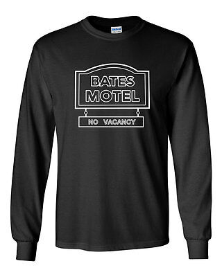 282 Bates Motel Long Sleeve shirt scary movie halloween costume horror tv show](Tv Show Halloween Costume)