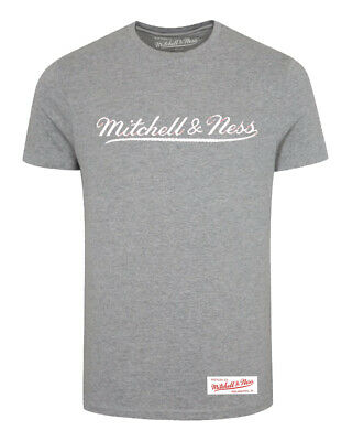 Mitchell & Ness Tailored Tee Crew Neck Short Sleeved Top Grey Mens T-Shirt A39A