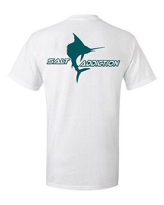 Salt Addiction Sailfish fishing t shirt,saltwater fish,offshore apparel,ocean