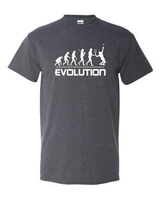 - Tennis Evolution Sports Ball Racquet Team Funny Humor Adult Men's T-Shirt Tee