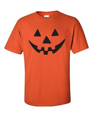 Pumpkin Funny Face Halloween Party Spooky Drinking College Men's T-Shirt 326