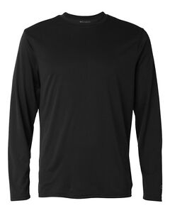 Champion Double Dry Performance Long Sleeve T Shirt Mens Tee S-3XL CW26