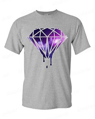 Bleeding Melting Dripping Galaxy Diamond T Shirt Galaxy Design Tee