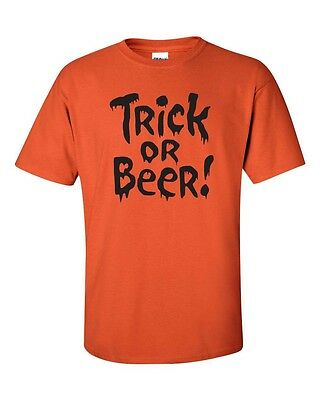 TRICK OR BEER Halloween Party College Drinking Black PRNT Men's T-Shirt 343