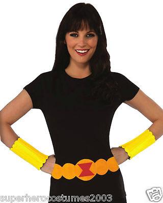 Weibliche Avengers Kostüme (The Avengers Age Of Ultron Schwarze Witwe Weiblich Hemd Klein Rubies 810793)