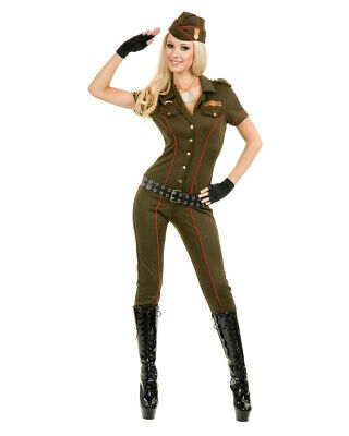 Womens Sexy Green Air Force Angel Pilot Officer Costume - Womens Pilot Costume