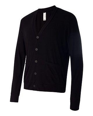 Bella + Canvas Unisex Triblend Men Women Cardigan 3900 Fashion Button Up Tee Blk
