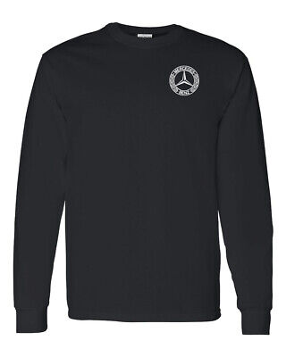 Mercedes Benz Custom Mens Long Sleeve T-Shirt Tee Choose Color Custom Long Sleeve Tee
