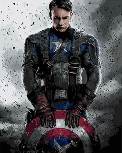 Captain America Man Movies Paint By Number Kit DIY Number Canvas Painting Oil