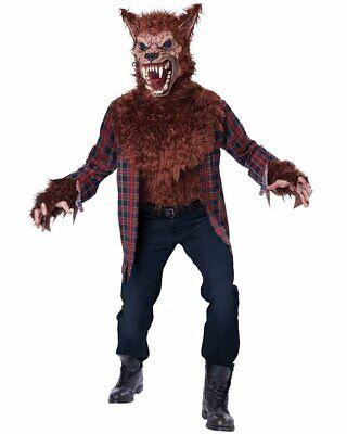 CL631 Blood Moon Brown Werewolf Bad Wolf Riding Hood Halloween Fairytale Costume