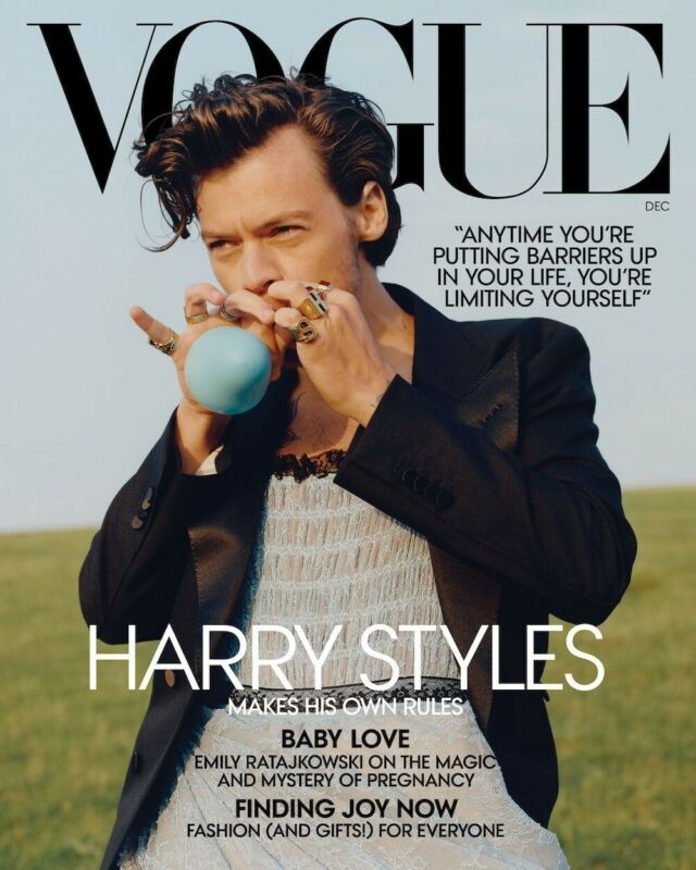VOGUE USA-AMERICAN VOGUE MAG-DECEMBER 2020-HARRY STYLES-IN STOCK