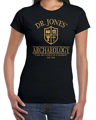 492 Dr. Jones Archaeology Womens T-shirt funny 80s movie costume party Indiana - Women Funny Costumes