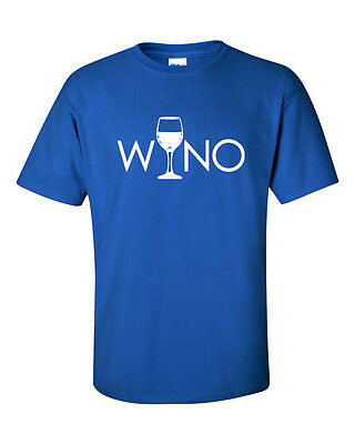 Wino Wine Drinking Glass Alcohol Drunk College Party Funny Humor Tee Shirt349 (Funny Drinking Glasses)