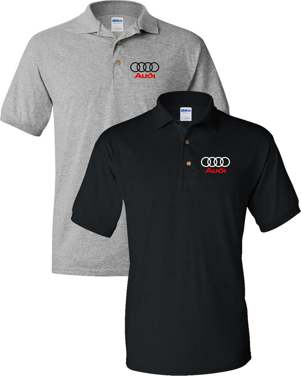 Audi rings Logo Shirt Audi Men's Polo Shirt
