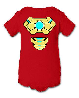 Ironman 2 Inspired Infant Baby Newborn Onesie Creeper Crawler Halloween Costume
