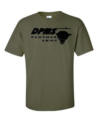 DPMS Panther Arms Black Logo T-Shirt 2nd Amendment Pro Gun Tee Rifle Pistol New