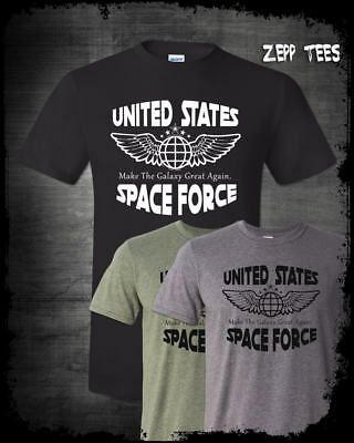 Trump Space Force T Shirt Funny Make The Galaxy Great Again Meme God Emperor Usa