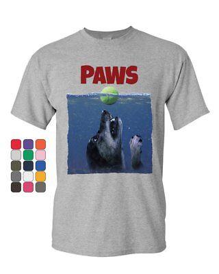 Mans Best Friend T-shirt (PAWS Funny Parody T-Shirt Dog Lovers Pet Best Friend Mens Tee)