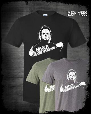 Halloween Movie Shirt (Michael Myers Halloween Just Do It Shirt Funny Nike Parody Horror Movie)