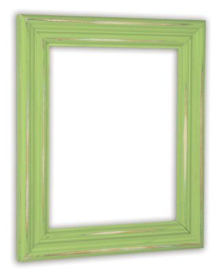Distressed Green Apple Picture Frame - Solid Wood Green Distressed Frame