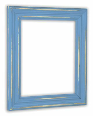 Icon Spas (Distressed Spa Blue Picture Frame - Solid Wood )