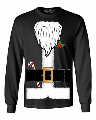 Funny Santa Costumes (Santa Costume Candycane Long Sleeve Funny Ugly Christmas)