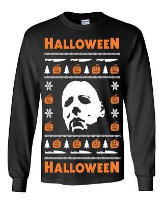 650 Halloween Long Sleeve Shirt Ugly christmas sweater slasher costume horror