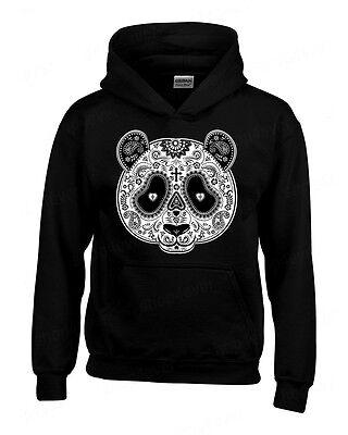 Sugar Skull Panda Hoodie Day of the Dead Dia De Los Muertos Halloween Sweatshirt - Panda Hoodie