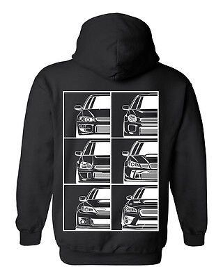 Subie Generation Hoodie Black S 3Xl Jdm Awd Shirt