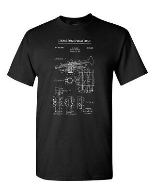 (Trumpet Music Brass Instrument Band Vintage Men Adult Graphic T-Shirt Apparel)