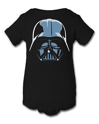 Darth Vader Inspired Infant Baby Newborn Onesie Crawler Halloween Costume