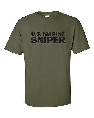 United States Marine Corp Sniper Usmc Corps Military  Mens Tee Shirt
