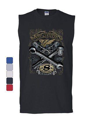 Mechanics Backbone of America Muscle Shirt Engine Repair Blue Collar Sleeveless - America Muscle
